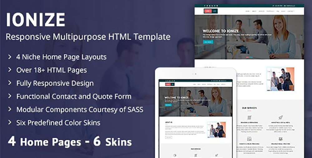 Ionize HTML template by Codexin Technologies